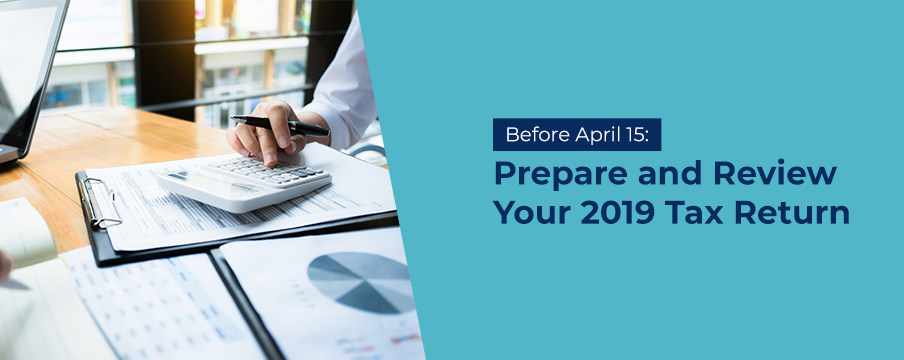 Prepare your tax return for 2019