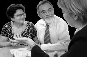 Elderly Couple Discussing Finances